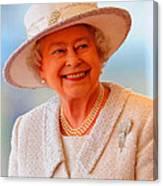 Queen Elizabeth II Portrait 100-028 Canvas Print
