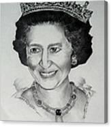 Queen Elizabeth II Canvas Print