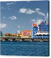 Queen Emma Bridge Open Curacao Canvas Print