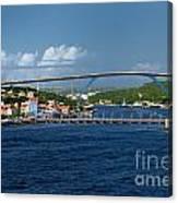 Queen Juliana Bridge  Queen Emma Bridge Curacao Canvas Print