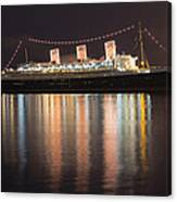 Queen Mary Decked Out For The Holidays Canvas Print