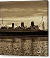 Queen Mary In Sepia Canvas Print