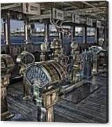 Queen Mary Ocean Liner Bridge 01 Extreme Canvas Print