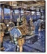 Queen Mary Ocean Liner Bridge 01 Photo Art 02 Canvas Print