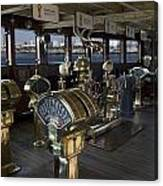 Queen Mary Ocean Liner Bridge 01 Canvas Print