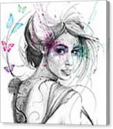 Queen Of Butterflies Canvas Print