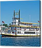 Queen Of Seattle Vintage Paddle Boat Art Prints Canvas Print