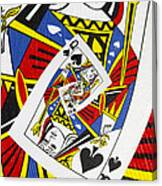 Queen Of Spades Collage Canvas Print