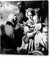 Queen Victoria & Son Canvas Print