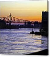 Queensboro Bridge At Night - Manhattan Canvas Print