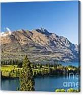 Queenstown Golf Club And Lake Wakatipu Canvas Print