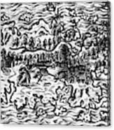 Queiros Voyages, 1613 Canvas Print