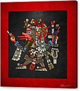 Quetzalcoatl In Human Warrior Form - Codex Borgia Canvas Print