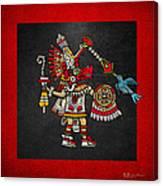 Quetzalcoatl In Human Warrior Form - Codex Magliabechiano Canvas Print