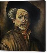 Quick Study Of Rembrandt Canvas Print