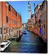 Quiet Canal Canvas Print