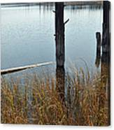 Quiet Day On Yellowstone's Goose Lake Canvas Print