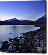 Quiet Night By The Lake Canvas Print