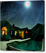 Quiet Night With A Full Moon Canvas Print