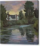 Quiet Reflections Duwamish River Canvas Print