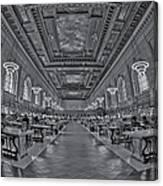 Quiet Room Bw Canvas Print