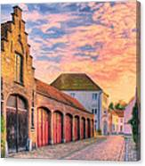 Quiet Village Sunset Canvas Print