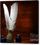 Quills And Inkwells Canvas Print