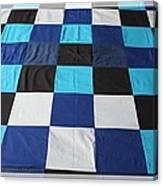 Quilt Blue Blocks Canvas Print