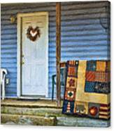 Quilt On The Front Porch Canvas Print