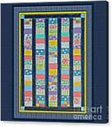 Quilt Painting With Digital Border 2 Canvas Print