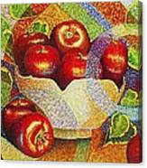 quilted Apples Canvas Print
