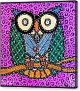 Quilted Dr Owl Canvas Print