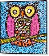 Quilted Judge Owl Canvas Print