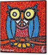 Quilted Professor Owl Canvas Print