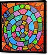 Quilted Spiral Snake Canvas Print