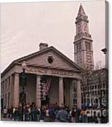 Quincy Market - Boston Massachusetts Canvas Print