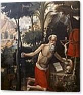 Quispe Tito, Diego 1611-1681. Saint Canvas Print