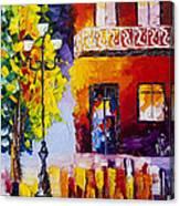 Quite Evening In Paris  Canvas Print