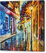 Quito Ecuador - Palette Knife Oil Painting On Canvas By Leonid Afremov Canvas Print