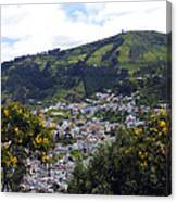 Quito From El Panecillo Canvas Print