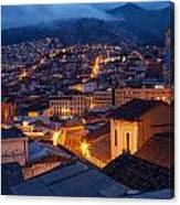 Quito Old Town At Night Canvas Print