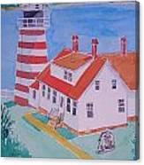 Quoddy Head Light Canvas Print