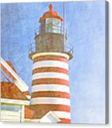 Quoddy Lighthouse Lubec Maine Canvas Print
