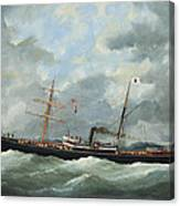 R. Bell And Co.s Steamship Bothal In A Heavy Swell Canvas Print