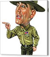 R. Lee Ermey As Gunnery Sergeant Hartman Canvas Print