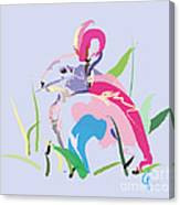 Rabbit - Bunny In Color Canvas Print