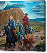 Rabbitbrush Round-up Canvas Print