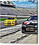 Race Car Track View Canvas Print