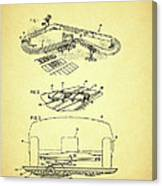 Race Car Track With Race Car Retaining Means Patent 1968 Canvas Print