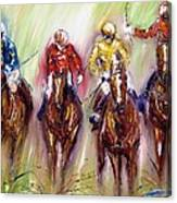 Irish Racehorses Available As A Signed And Numbered Print See Www.pixi-.com Canvas Print